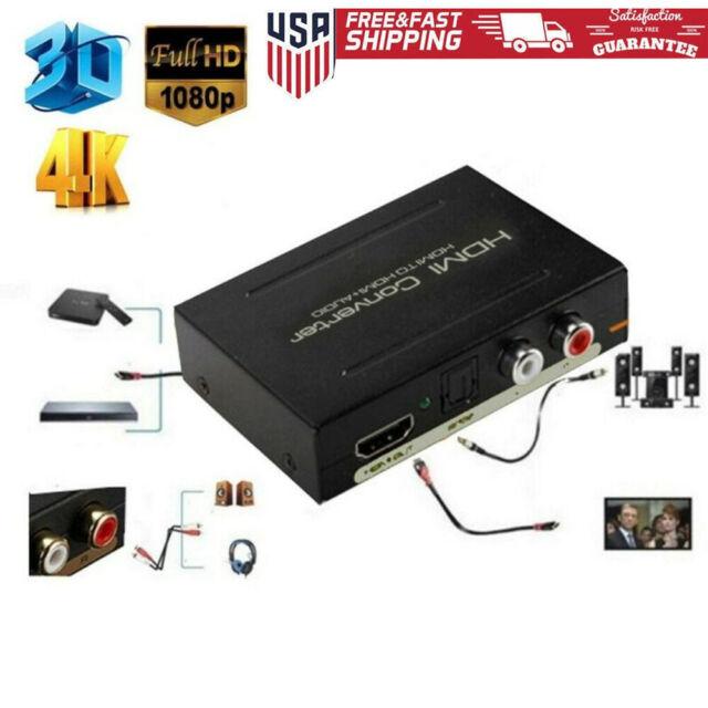 HD 4K 3D HDMI 1x4 Optical Toslink Splitter SPDIF Coaxial L//R Audio Extractor Box