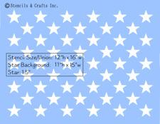 "1.5"" STAR ""50 STARS"" STENCIL PATRIOTIC AMERICAN FLAG PAINT TEMPLATE NEW 12""x16"""