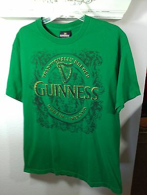 L green TShirt GUINNESS beer Dublin IRELAND irish ST PATRICKS DAY bar PUB party