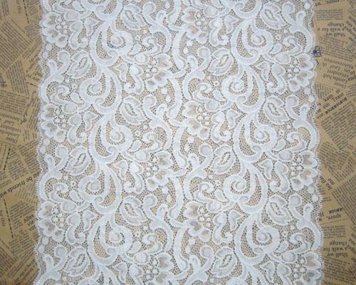 "14""*1yard Cream Pretty Wide Stretch Lace Trim Sewing/Crafts for Baby Headband"