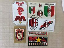 10 ADESIVI CALCIO A.C. MILAN SQUADRA ANNI '70 , '80 ,90 E GUERIN SPORTIVO