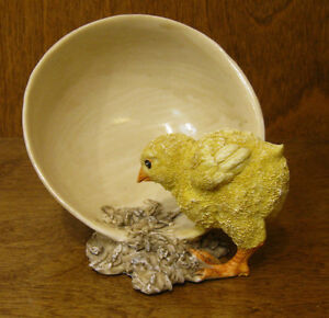 Top-Collection-Enchanted-Story-Fairy-Garden-4300-BABY-CHICK-EATING-NEW-Box