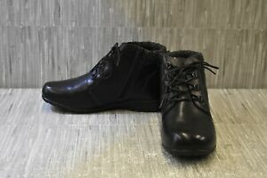 Propet-Delaney-WFV002L-Ankle-Boot-Women-039-s-Size-10-XX-4E-Black