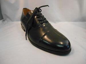 Giorgio-Brutini-Black-Leather-Cap-Toe-Dress-Oxfords-Shoes-Men-039-s-Sz-6-M