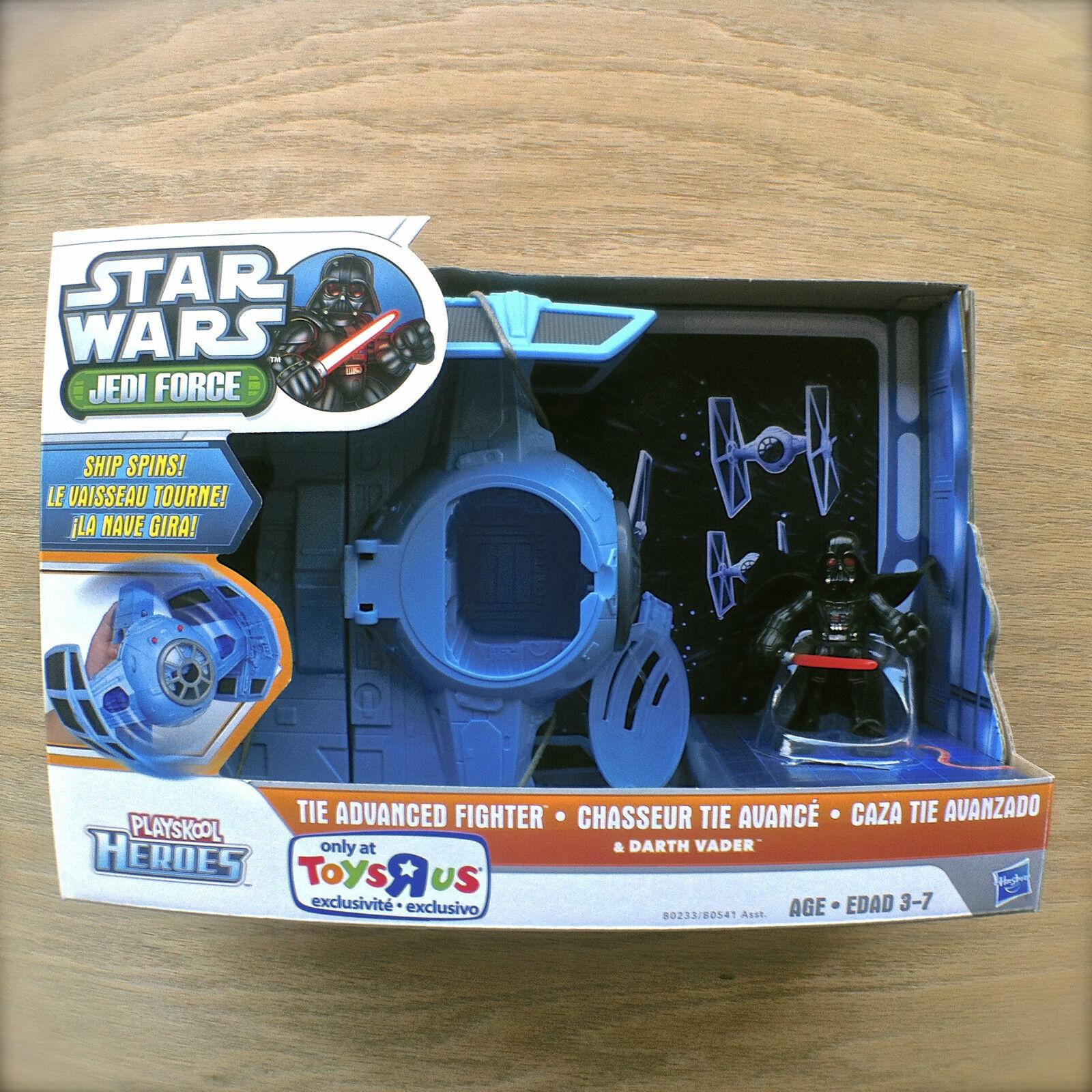 stjärnornas krig Jedi Force TIE TIDIGARE Fighter och Dkonsth Vander Hasbro spelaskools hjältar
