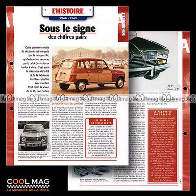 #hvf.06.02 Renault Story 1960-1965 Photos R4 4l Parisienne R8 R16 Car Fiche Auto Zorgvuldige Verfprocessen