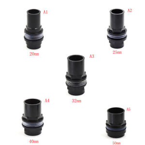 Black-Straight-Tube-Pipe-Fitting-Connector-PVC-Joint-Fish-Tank-Aquarium-PipePBW