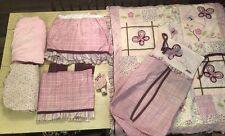 7 Pc Cocalo Sugarplum Crib Nursery Bedding Set Quilt Ed Sheet Skirt Valance