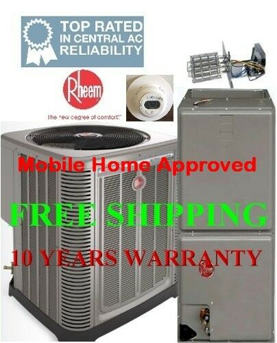 4 Ton R410A 15SEER Heat Pump System Condenser / Air Handler with Coil R Heat Pumps For Mobile Homes on