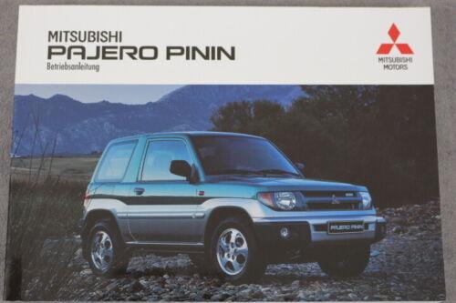 "MITSUBISHI PAJERO PININ manuale d/'uso/"" 1999/"" manuale di istruzioni"
