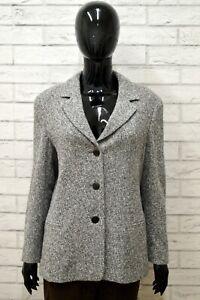 Giacca-Donna-MAX-MARA-Taglia-Size-44-XL-Maglia-Blazer-jacket-Woman-Lana-Grigio