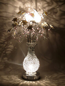 Blossom silver woven wire metal table lamp white flowers floral image is loading blossom silver woven wire metal table lamp white keyboard keysfo Image collections