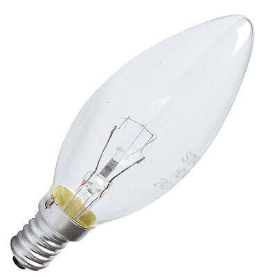 10 x CANDLE LIGHT BULBS SMALL EDISON SCREW 25W 40W 60- SES E14 SMALL SCREW CAP
