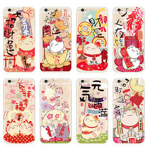 Chinese-style-Painted-Clear-TPU-Soft-Phone-Case-Cover-For-iPhone-5S-SE-6-6S-Plus