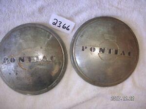 1930's 1940's Pontiac hub caps pair used                               my#2366sp