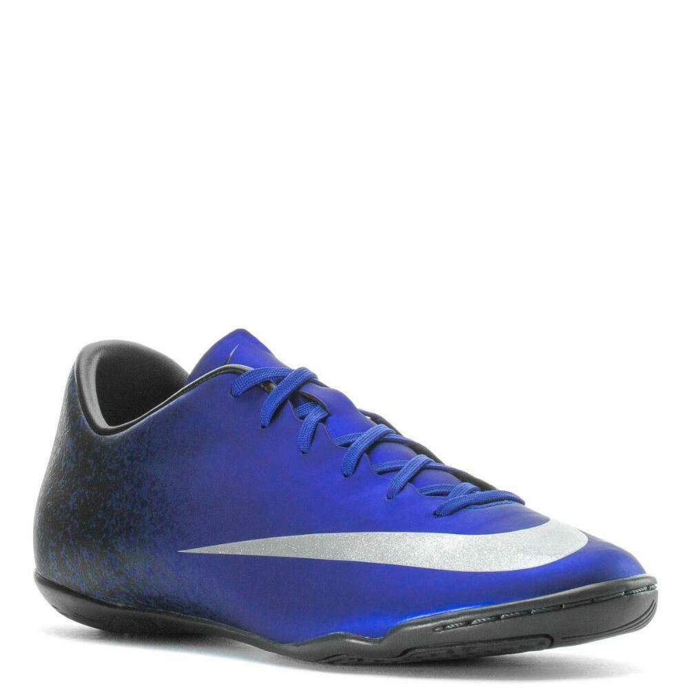 NIKE MERCURIAL VICTORY V CR7 IC SNEAKER MEN SHOES blueeE 84875-404 SIZE 12 NEW