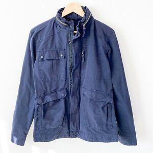 FIELD-SCOUT-navy-blue-zip-up-utility-field-jacket-mens-size-medium-rugged