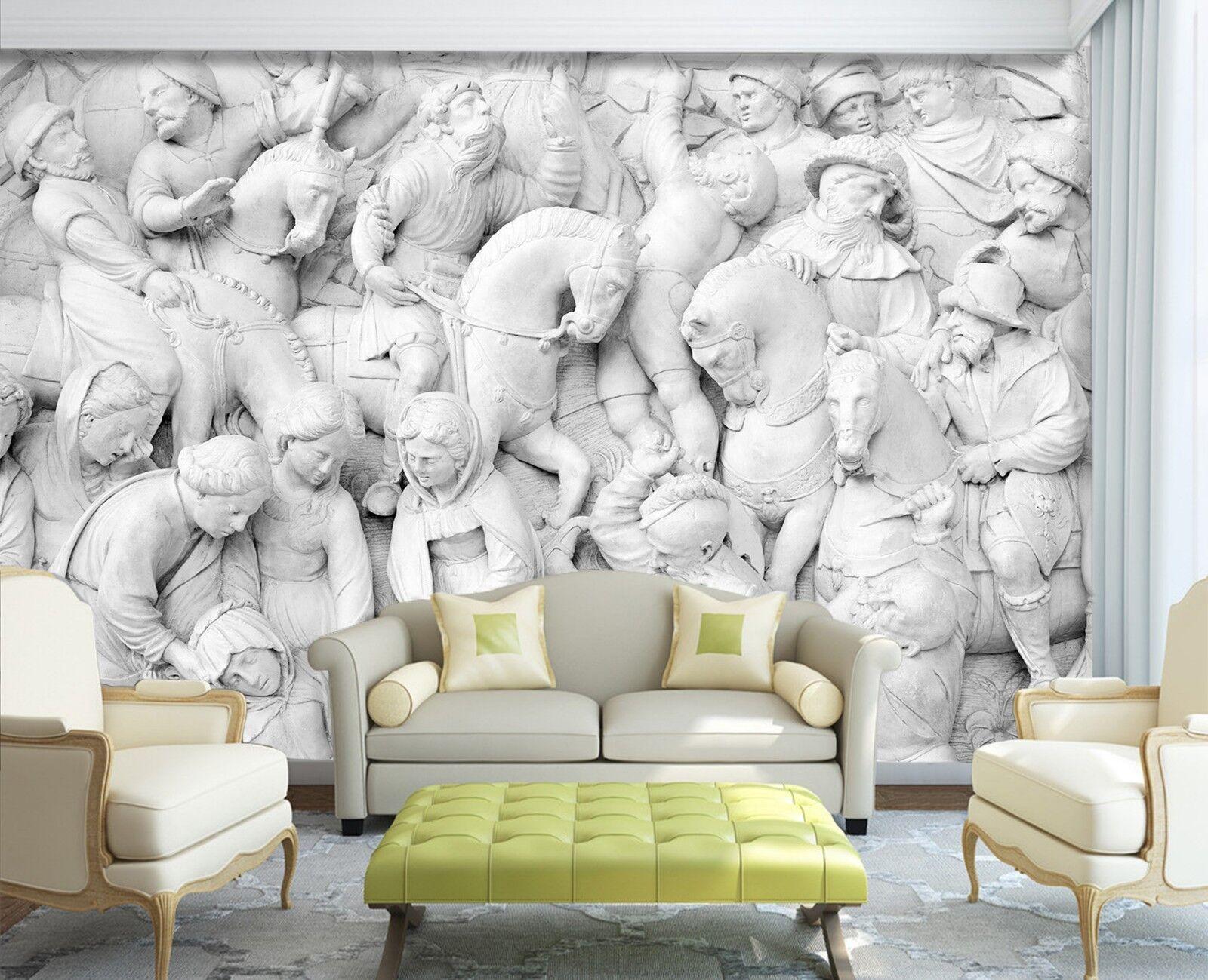 3D Ancient People Sculpture 3 Wallpaper Mural Print Wall Indoor Wallpaper Murals