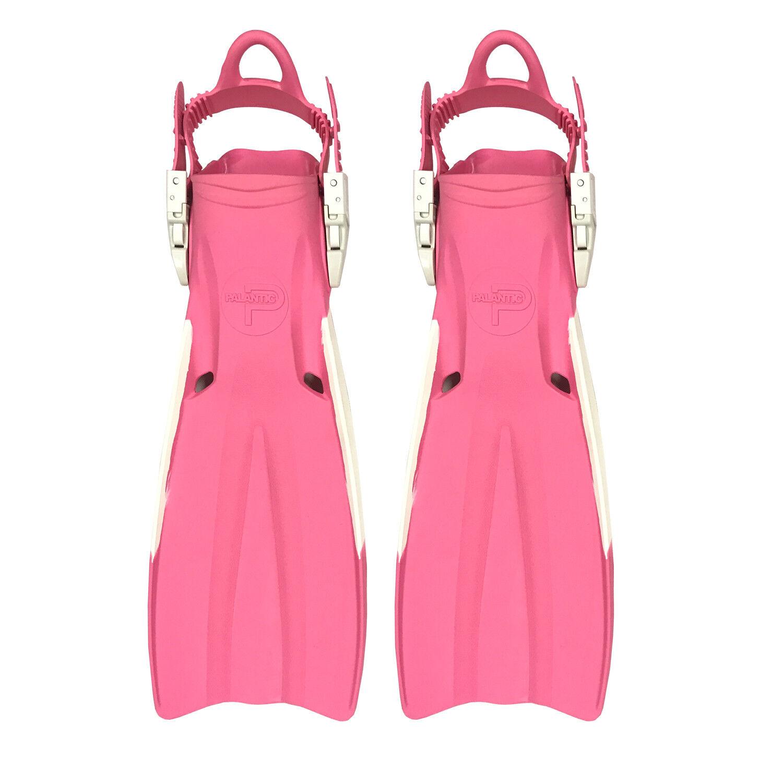 Scuba Choice Palantic Open Heel Rubber Dive Fins with Bag, Pink