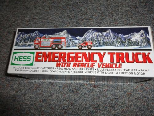 HESS EMERGENCY TRUCK WITH RESCUE VEHICLE 2005 *NEW*