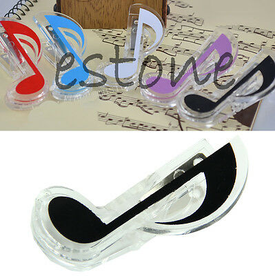 Musical Note Plastic Clips Perfect Style Piano Book Page Clips Quaver Clips NEW