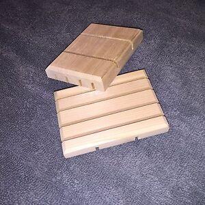 (2) Wooden Soap Dishes - Natural Cedar - Small/Medium - Free Shipping