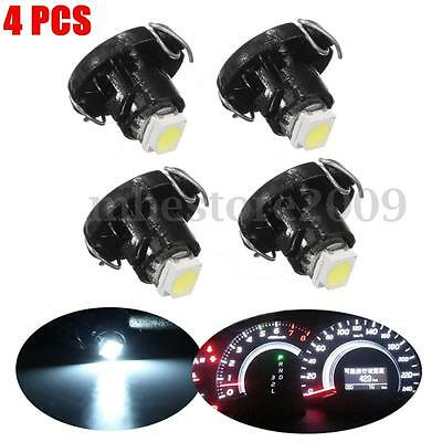 4pcs White T4 2835 SMD Neo Wedge LED Climate Heater Control Dashboard Light Lamp