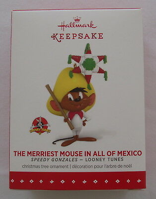 Hallmark 2015 Looney Tunes Speedy Gonzales Merriest Mouse Pinata Mexico Ornament