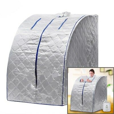 Home Portable Steam Sauna Full Body Detox Loss Weight Slim Indoor Spa Therapy..
