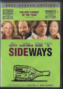 Sideways-DVD-2005-Full-Screen-Comedy-R-Paul-Giamatti-Thomas-Haden-Church