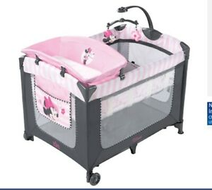 Baby Play Pen Set Minnie Mouse Playard Bassinet Sleep Pink ...