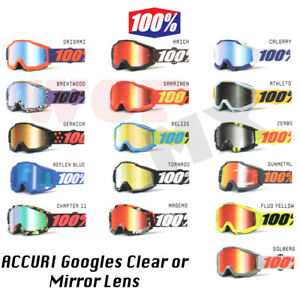 CLEAR included MIRROR 100/% Barstow 2019 Goggles Offroad MX Motocross Street