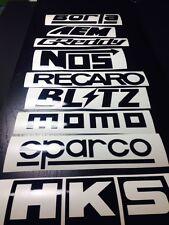 9 Car Sponsor Decal Pack BLACK Color! JDM Racing Stickers