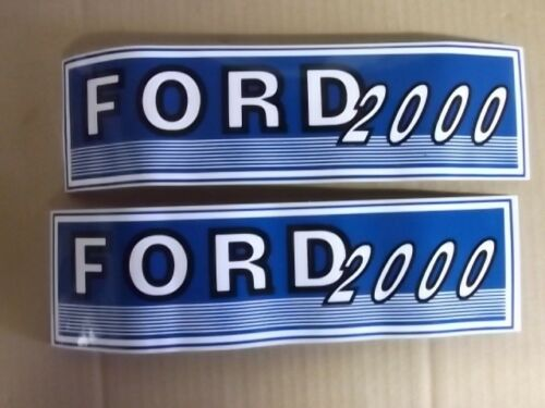 FORD 2000 DECALS SEE DETAILS. EARLY ROUND HOOD 4-CYL