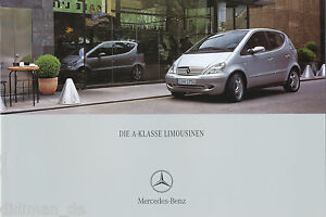 Mercedes-A-Klasse-Prospekt-2000-12-00-Autoprospekt-20-S-brochure-catalogus-Auto