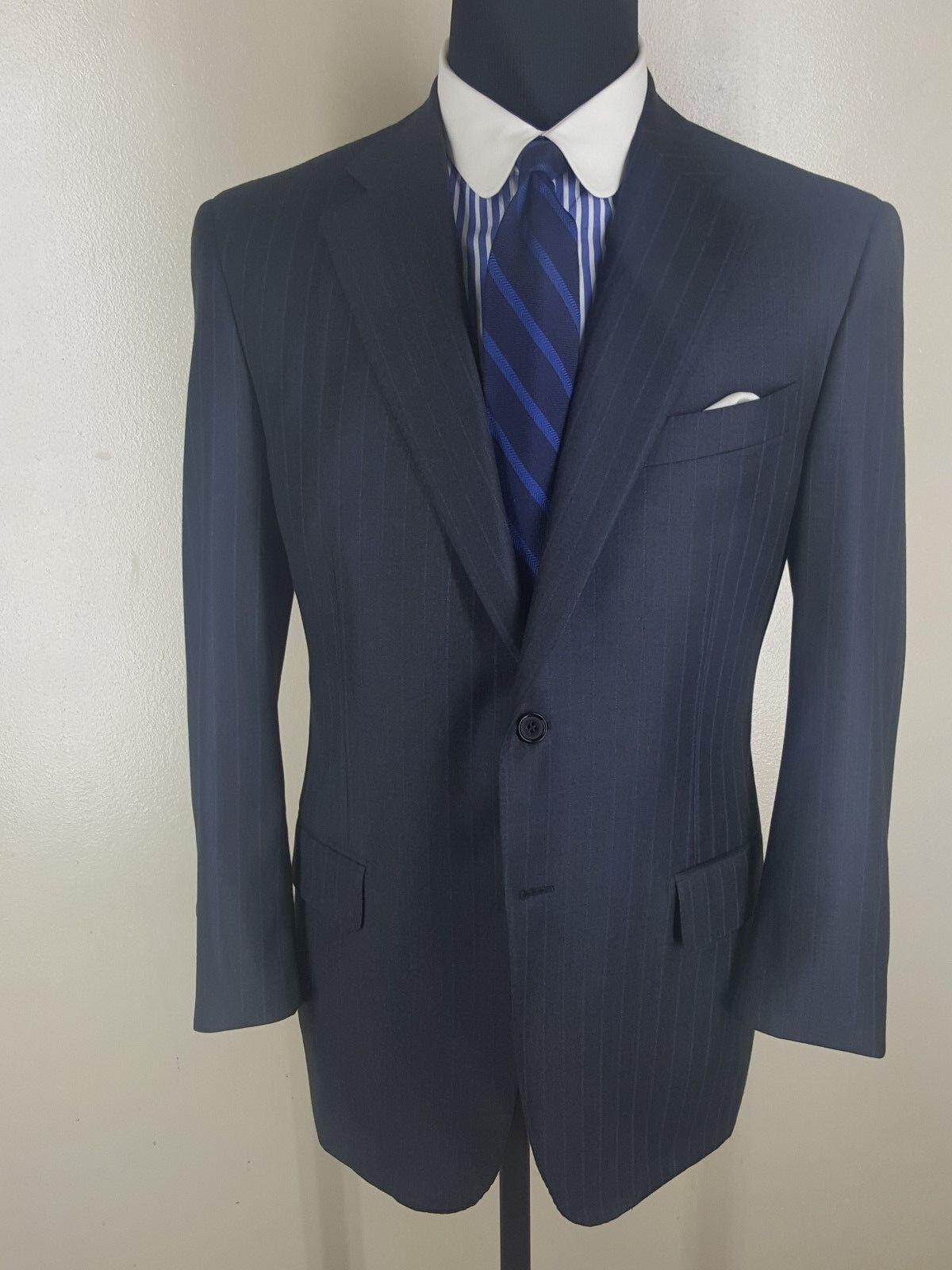 LORENZ NICOLA Super 150'S Wool Suit 2 Btn Side Vents  42 S -Fit 42 S-44 Short