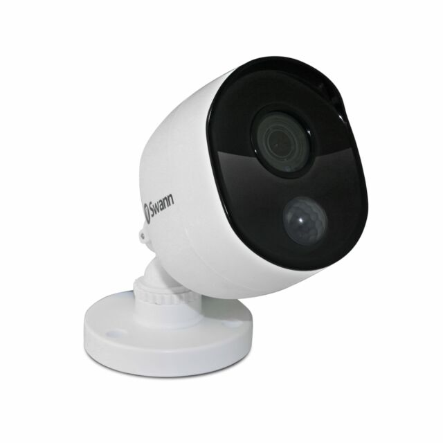 Swann SWPRO-5MPMSB-US 5MP PIR Motion Sensors and 100 of Night Vision Add-On Bullet Camera White