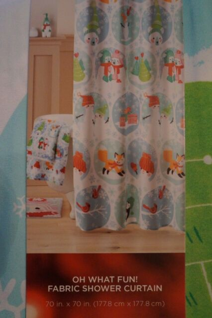 Buy St Nicholas Square Holiday Winter Friends Fabric Shower