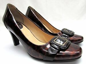 30bf44ad0ef Cole Haan 6.5 B women s pumps high heel patent leather shoes brown ...