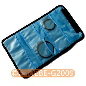Filter-Lens-Case-Bag-w-6-Pockets-for-CPL-ND-UV-Infrared-Grey-52-55-58mm-Filter