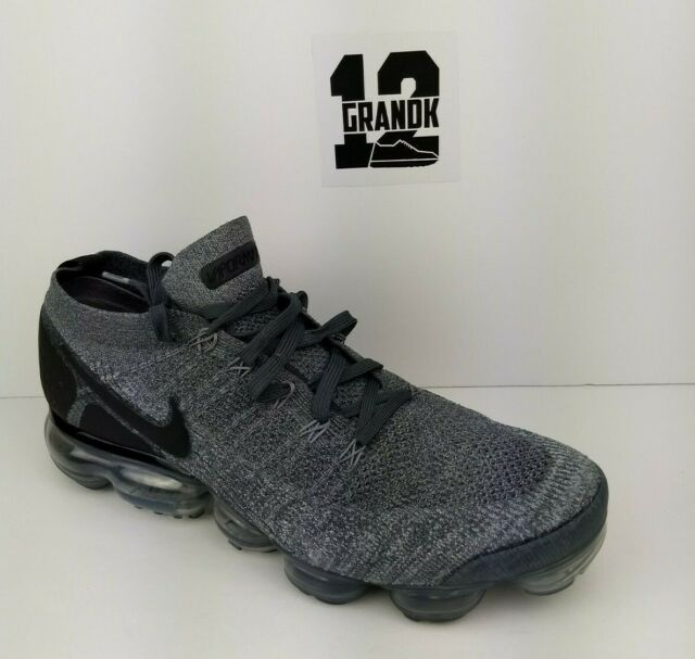 99d720f9682c Nike Air Vapormax Flyknit 2 Mens 942842-002 Wolf Grey Running Shoes ...