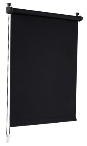 Verdunkelungsrollo Schwarz 80x130cm Klemmfix Verdunklungsrollo Seitenzug Rollo