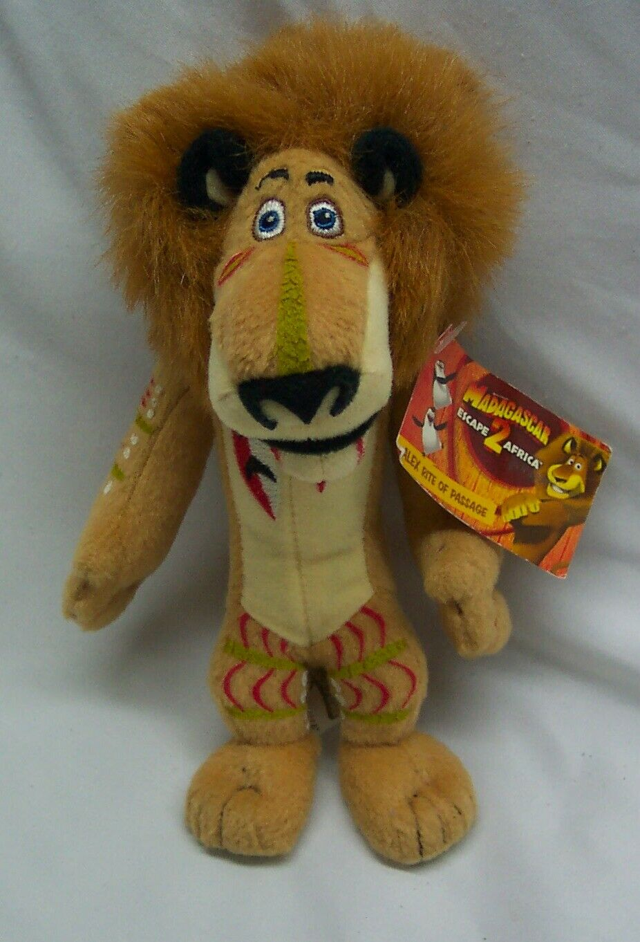 Madagascar Escape 2 Africa Alex Right Of Passage 7 Plush Stuffed Animal Toy New For Sale Online