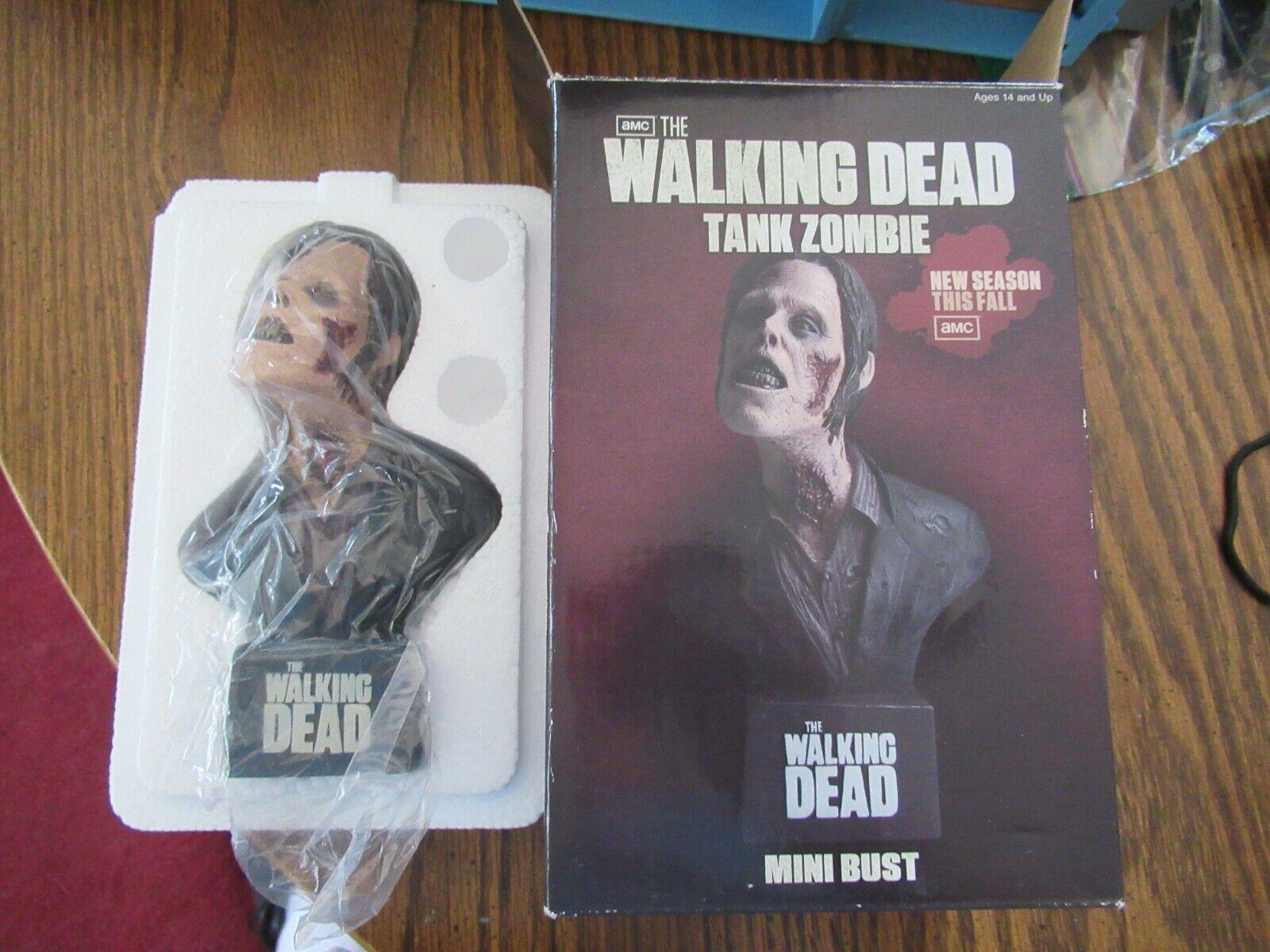 Walking Dead Tanque Zombie Mini Busto Nuevo en paquete NECA 2011