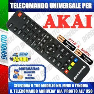 LO RICEVERAI GIA PRONTO TELECOMANDO UNIVERSALE AKAI ^ CLICCA SUL TUO MODELLO
