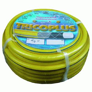 "Tricoplus anti-torsion yellow hose 50 mt 1/2 ""13 mm for garden irrigation"