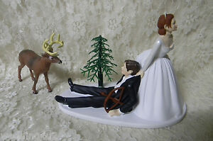 wedding cake toppers red hair groom wedding deer bow cake topper hair on 26587