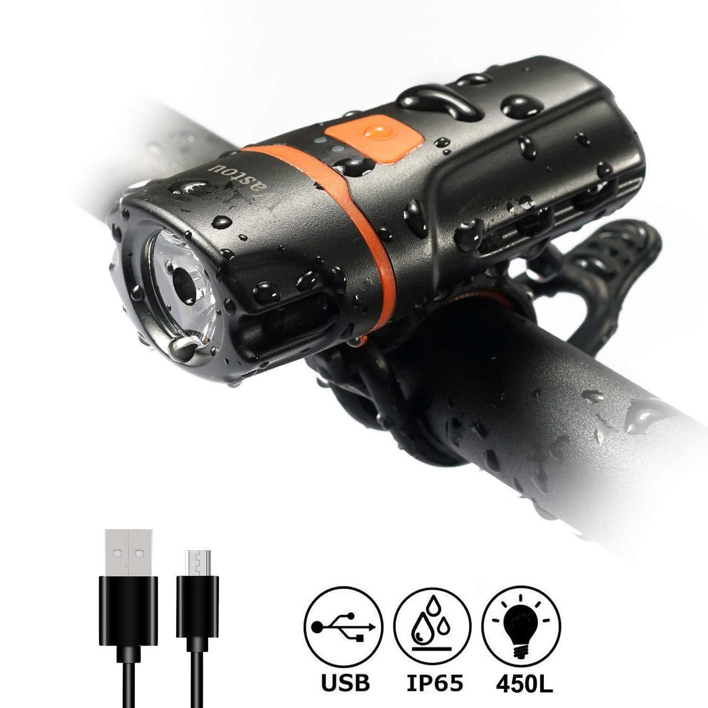 LUCE BICI wastou, USB Riautoicabile LED Luce Bicicletta, super luminosi CICLISMO Li.
