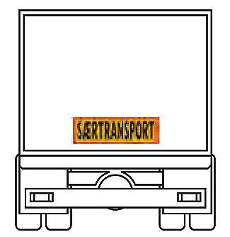 900 x 300 mm Aluminium Heckwarntafel Saertransport RA1 reflektierend Dänemark