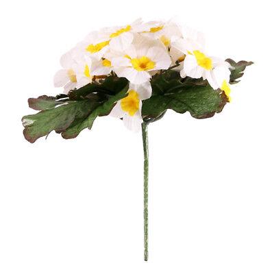 Artificial Primula Bush 25 Flowers 21cm//8 Inches Yellow